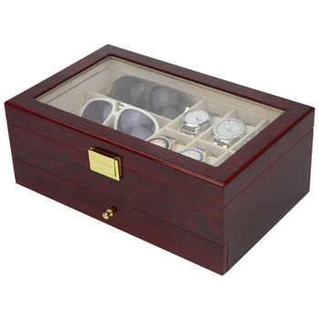Double Layer Luxury Storage Watch Box Slots Best Gift for Women Makeup Rose Wood Collect Box Vintage Case Family Storage Box