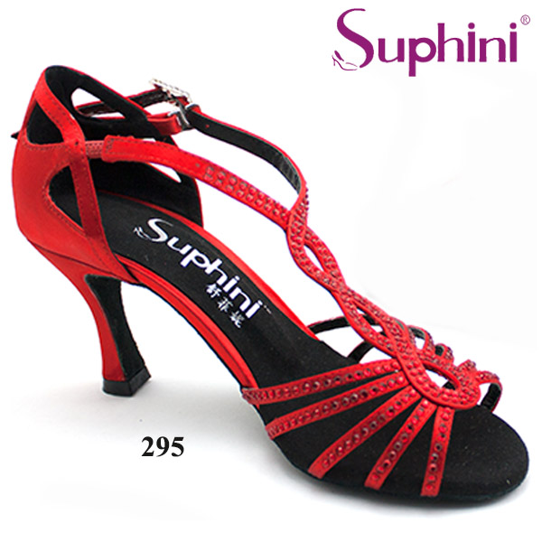 Free Shipping Crystal T STRAP High Heel Dance font b Shoes b font Women s font
