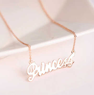 English alphabet princess clavicle short chain Necklace Fashion personality female jewelry  factory direct LM-N196