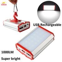OOBEST Portátil Pendurado SMD Lâmpada LED Tenda Ao Ar Livre Caminhadas Camping Lanterna Lanterna USB Power bank para Telefones Moibile