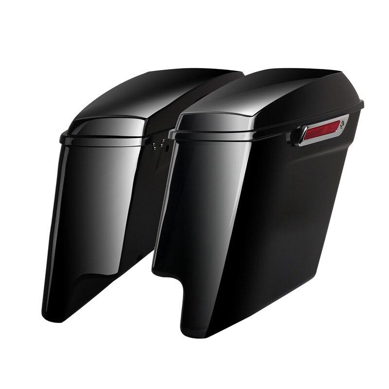Triclicks 5 Vivid Black растягивается расширенные сумки для Harley Touring 14-18 Вт/защелка
