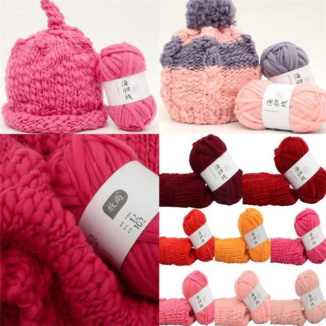 d341097b938 50G Wollen Ball Hand-woven Multicolor Crochet Soft Knitting Fiber Natural  Yarn For Hat Blanket