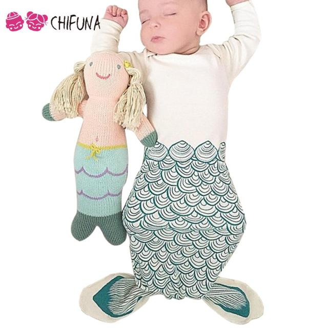 Fashion Baby Sleeping Bags Cute Cartoon Shark Mermaid Pattern Baby Clothing 2016 Infant Apparel Comfortable Infant Sleeping Bags