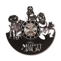 El Show de los muppets 3D Registro Creativo Reloj de Estilo Antiguo Reloj de Pared Hecha A Mano del Disco de Vinilo Del Reloj de Pared de Regalo Para Los Niños