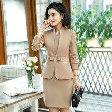efc6a6d35ed6 Formale elegante femminile della giacca sportiva di affari abiti abiti da  lavoro vestito di vestito per le donne lady ufficio 2 .