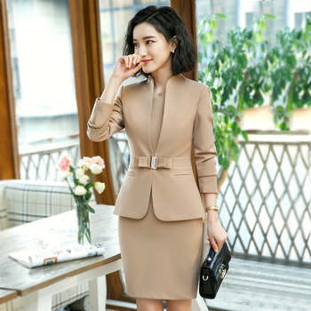 formal elegant female blazer business dresses work dress suit for women office lady 2 piece formal dress suits tops jacket set formal wear