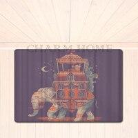 MAISON de CHARME 40x60 cm Chaude Conception Deux Éléphants En Amour Print Salon Carpet Entrée Paillasson Tapis Rectangulaire Chambre cuisine