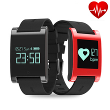 2017 Смарт часы Bluetooth браслет DM68 кровяного давления Heart Rate test Браслет Водонепроницаемый