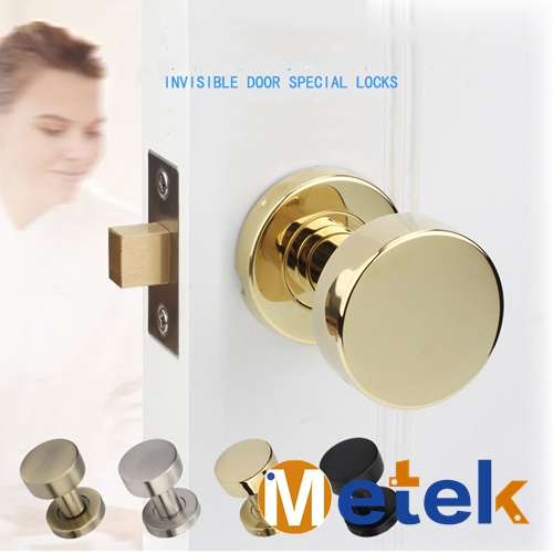Invisible Door Locks Invisible Background Wall Interior Door Handle Lock  304 Stainless Steel One Side No Key In Locks From Home Improvement On ...