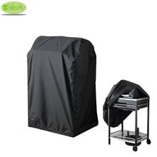 블랙 컬러 바베큐 커버 72x52x110 H, 방수, 방진 바베큐 그릴 커버, 바베큐 그릴 보호 커버, CNSJMADE
