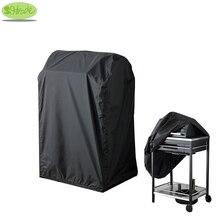 Zwarte Kleur Bbq Cover 72X52X110 H, Waterdichte, Stof Ondoorlaatbaar Barbecue Grill Cover, bbq Grill Beschermhoes, Cnsjmade
