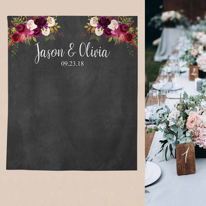 Image 2 - Funnytree photography theme background vintage wedding flowers watercolor blackboard party backdrop photocall new photo prop