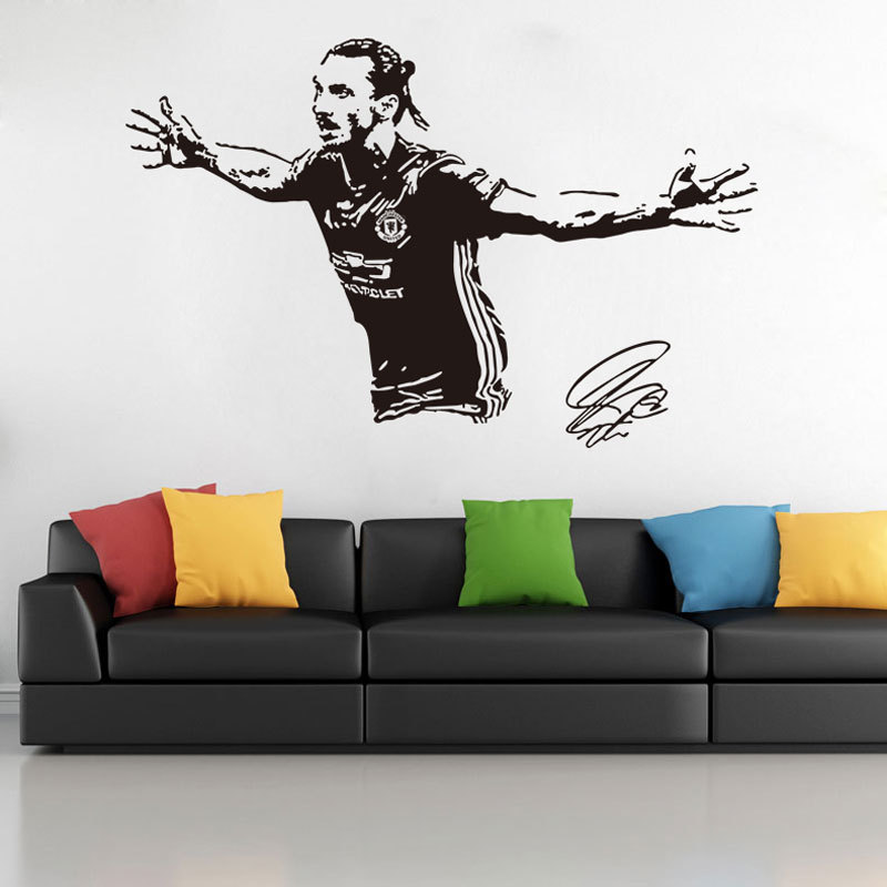 Zlatan Ibrahimovic Swedish Sweden Football Player Decal Wall Art Sticker