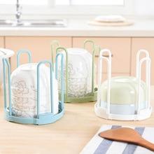 Hot Sale Plastic Bowl Shelf Kitchen Tableware Detachable Storage Green Storage Rack Colorful Household Dish Rack