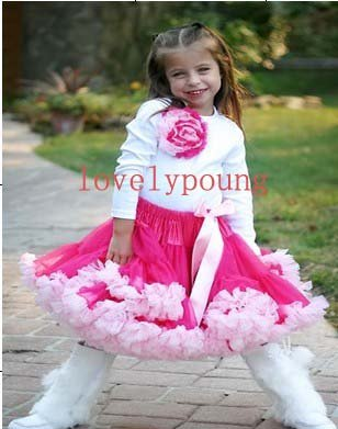 Юбка-американка для девочек; юбка-пачка розового цвета+ розовая бахрома