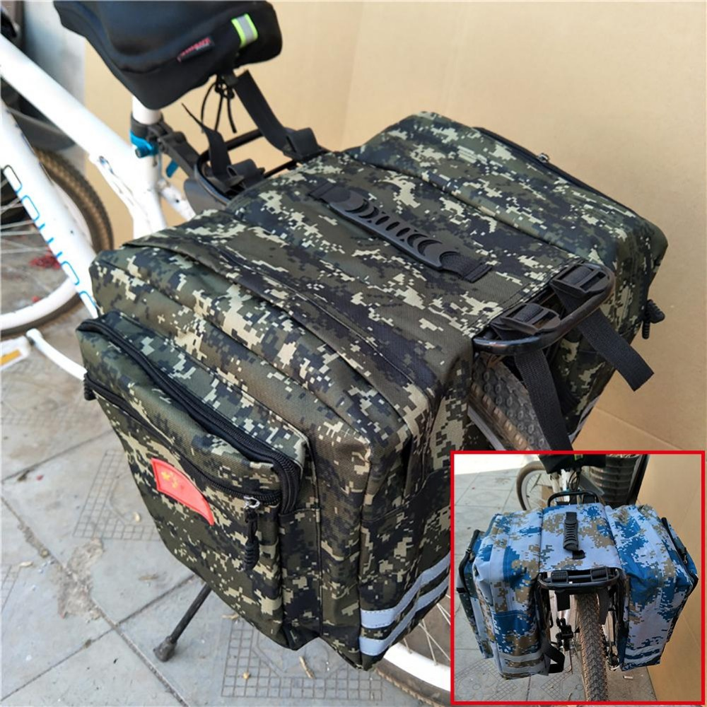 Enlarged Mountain Bike Camo Saddle Bag Mountain Bike Rack Saddle Bag Multifunction Road Bicycle Pannier Rear Seat Trunk Bag topeak dynawedge bike seatpost bag strap mount saddle bicycle rear bag ultralight bike repair tools pannier bag tc2293b