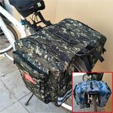 Enlarged Mountain Bike Camo Saddle Bag Mountain Bike Rack Saddle Bag Multifunction Road Bicycle Pannier Rear Seat Trunk Bag цена