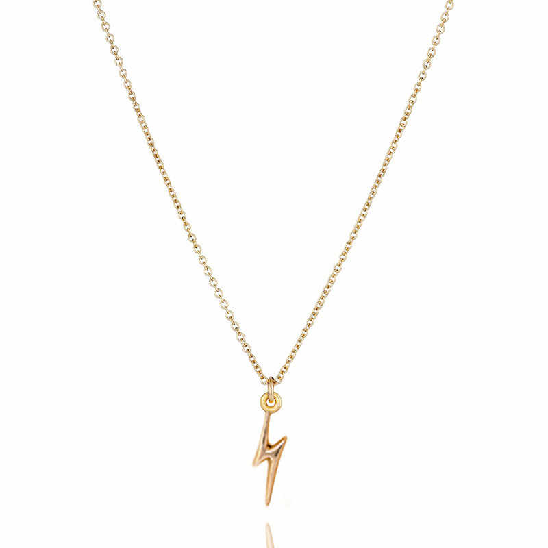 Collar con colgante de oro relámpago a la moda 2018, regalo de moda, accesorio de joyería, collar gargantilla para mujer, regalo de San Valentín