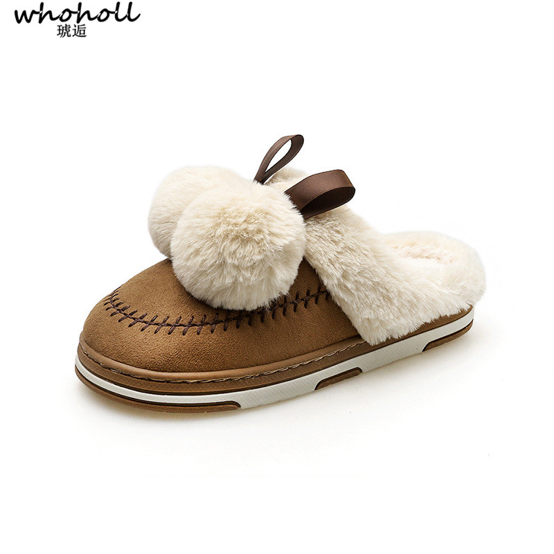c7119cd6dab2 Detail Feedback Questions about Hot Sale Luxury Winter Plush Leather Furry  Flip Flops House Fuzzy Fur Soft Bedroom Australian Slippers for Women No Ug  Anti ...