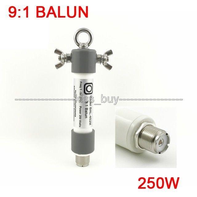 9:1 BALUN Mini BALUN dayanıklı 250W SSB HAM radyo QRP frekans: 1.0   54MHz