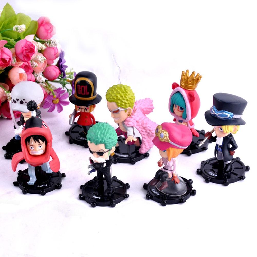8pcs/Set AnimeHigh Quality PVC Anime Games One Piece Figure Toy Assembly Leisure Life Pirates Group Full Gift Model Toys Oyuncak one set 4 pcs 95mm