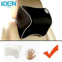 LOEN Breathable Car Headrest Neck Pillow Memory Foam Soft Comfortable Auto Accessories NeckPillow Car Seat Cover Support