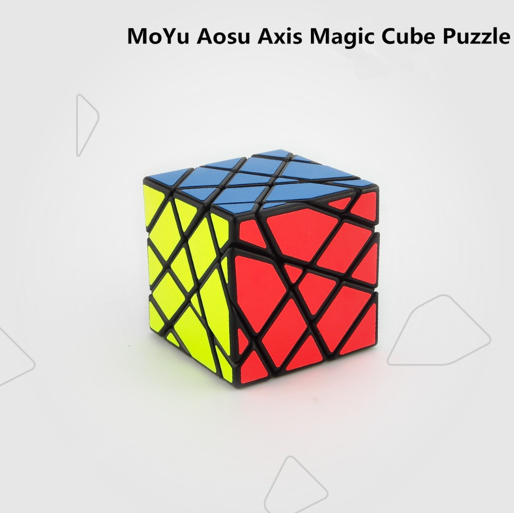 2016 Newest Tops MoYu Aosu Axis Magic Cube Puzzle Black and White and Pink puzzles cubes