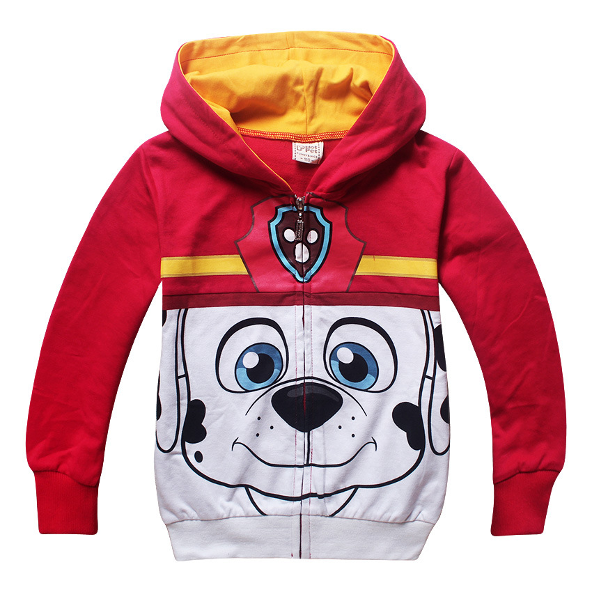 Kids Hoodies Jacket Cartoon Print Puppy Rubble Dog Spring Autumn Long sleeve zipper jacket for toddler boys costume outfit Coat
