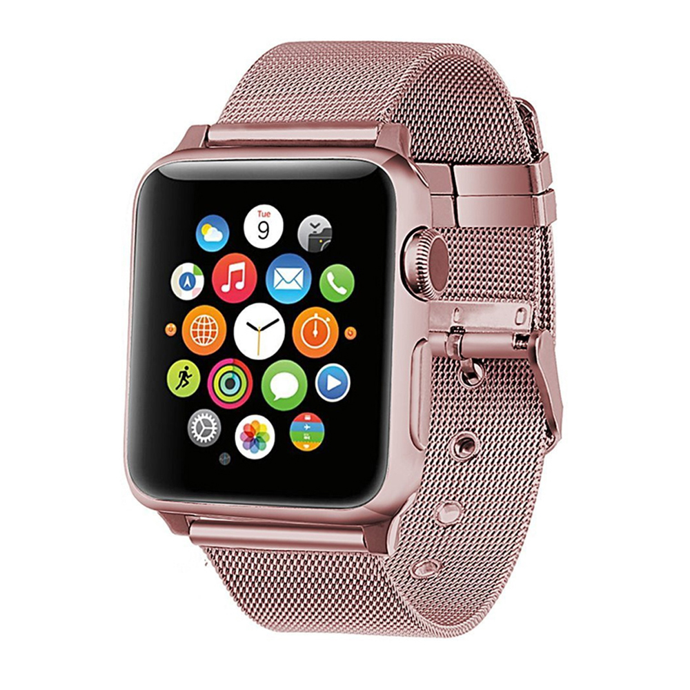 Stainless Steel Link Bracelet For Apple Watch 4 44mm 40mm Band Strap Milanese Loop Wrist Belt Iwatch Series 3/2/1 42mm 38mm