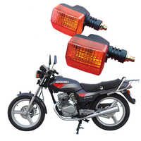 1 pair scooter indicator parts motorbike turn signal light for honda 125 CBT125 lamp amber flasher motorcycle turn signals moto