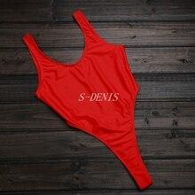 Women Bodysuit Backless Blue Black Red White