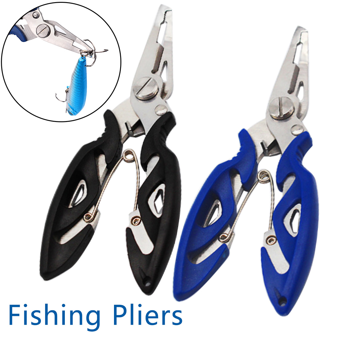 2019 Pro 1PC Durable Portable Multifunctional Stainless Steel Fishing Pliers Split Ring Scissors Wire Line Cutter Hook Removers