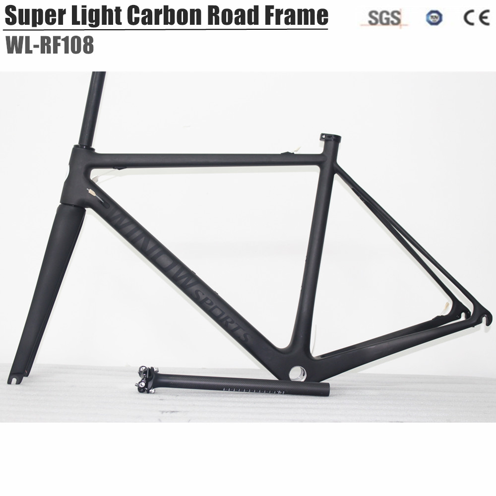2018 Super Light Full Carbon Road Bike Frame UD Matte painting BSA Carbon Racing Road Bicycle carbon road bike 2018 carbon fiber road bike frames black matt clear coat china racing carbon bicycle frame cycling frameset bsa bb68