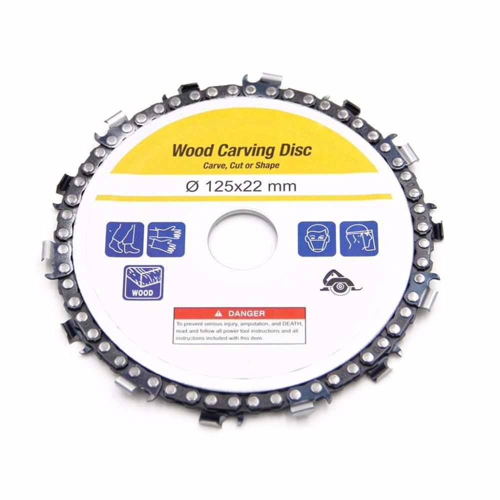 Disco de sierra de cadena de 14 dientes de 5 pulgadas para cortar la cadena Circular de hoja de sierra para madera 125*22mm nuevo