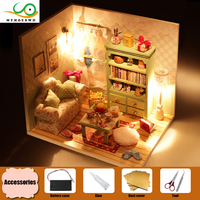 MYHOESWD Diy Miniature Wooden Doll House Furniture Kits Toy Girl Furniture Toys Dollhouse Puzzle For Child Grownup Birthday Gift
