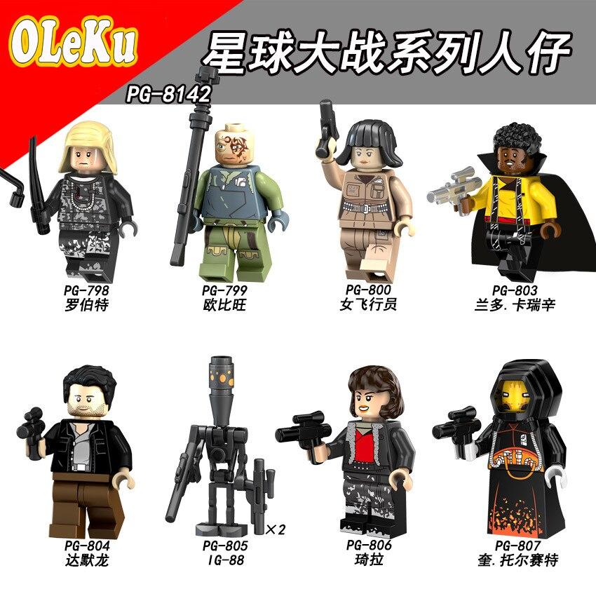 For Legoing Star Wars Rey The Last Jedi Starwars Darth Vader Luke Stormtrooper Yoda Model Building Blocks Bricks Toys Figures #4