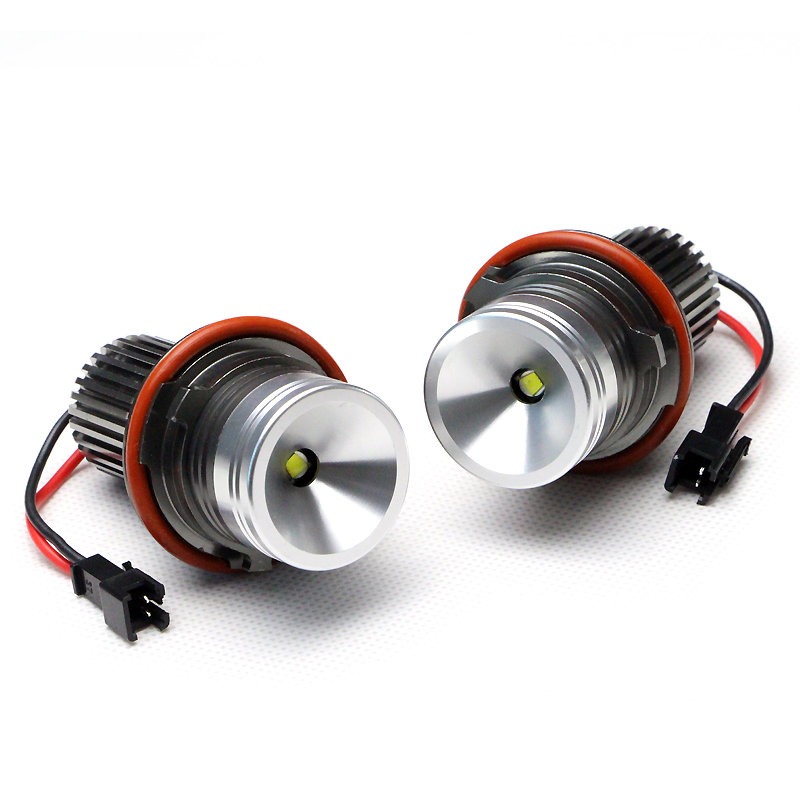 ФОТО 12V 10W High power LED Marker Car Angel Eyes for BMW E39 E87 E60 E61 E64 E65 E66 E53 E83 X3 12V 2 sets/lot OEM 63126929309