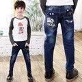 Nuevo 2016 Otoño Pantalones Vaqueros Del Bebé Para El Muchacho Muchachos Pantalones Vaqueros Adolescentes Niños Diseñador Jean niños Denim Elástico de La Cintura de Largo Pant