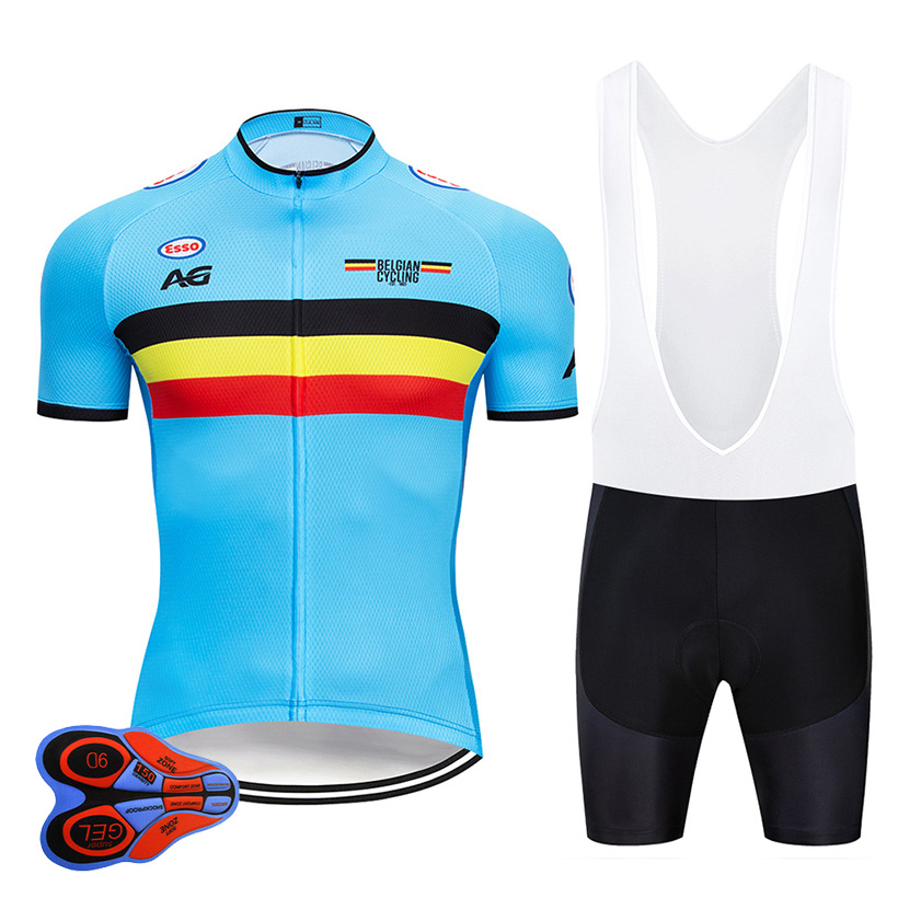 2019 Pro Team Belgium Cycling Jersey Set MTB Uniform Bike Clothing Ropa  Ciclismo Bicycle Wear Clothes 2e96f7d8d