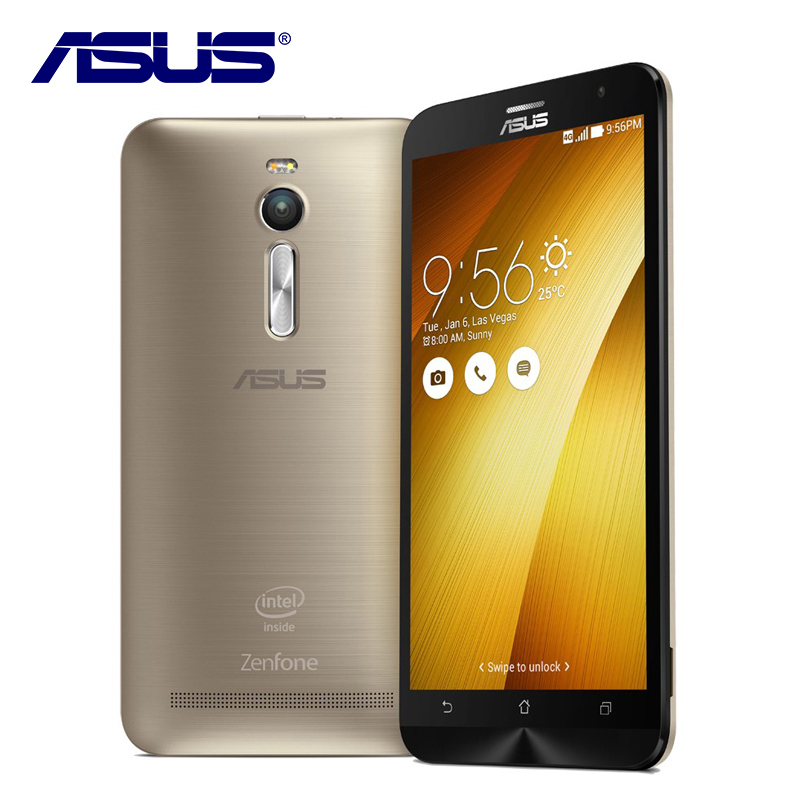 bilder für Neue Original ASUS Zenfone 2 Ze551ML 64 GB ROM 4 GB RAM Quad Core 5,5 zoll 3000 mAh 13MP Android 5.0 LTE 4G Dual-sim-karte Zelle telefon