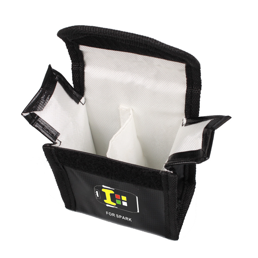 JMT Li po Battery Safe Bag Heat Resistence Explosion Proof Radiation Protection Bag Large Small for
