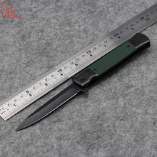 Dcbear High Quality Flash Tanto Stone Wash Pocket Knife 440C Steel Blade G10 Handle Folding Camping Tactical Survival Knife