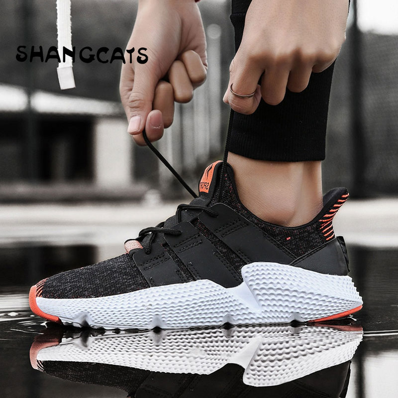 New 2018 Winter High Top Sneakers Men Knit Upper Breathable Shoes Fashion Black/White Shoes Shoes Casual Mens Footwear zapatos ...