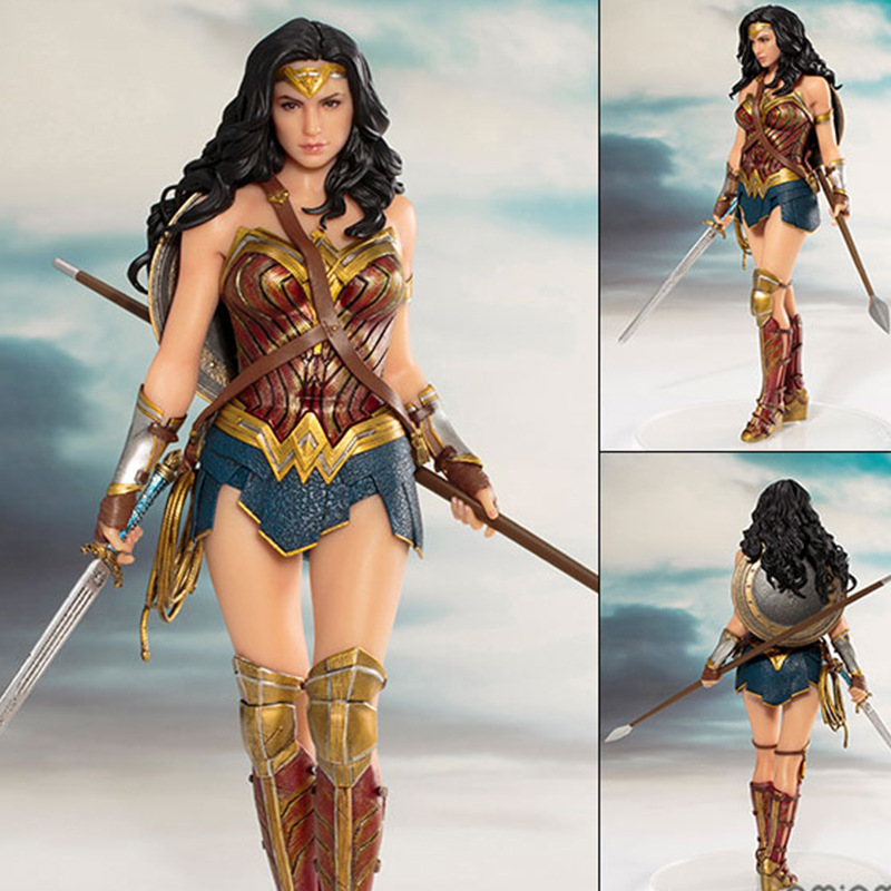 Pahlawan DC Wonder Woman Figure Mainan Boneka 19 Cm DC Justice League Artfx Wonder Woman Patung Koleksi Model Action Figure mainan