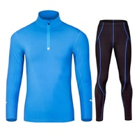 Autumn New Men S Running Sets Long Sleeve Sport Velvet Tights Clothes Winter Training Sets German