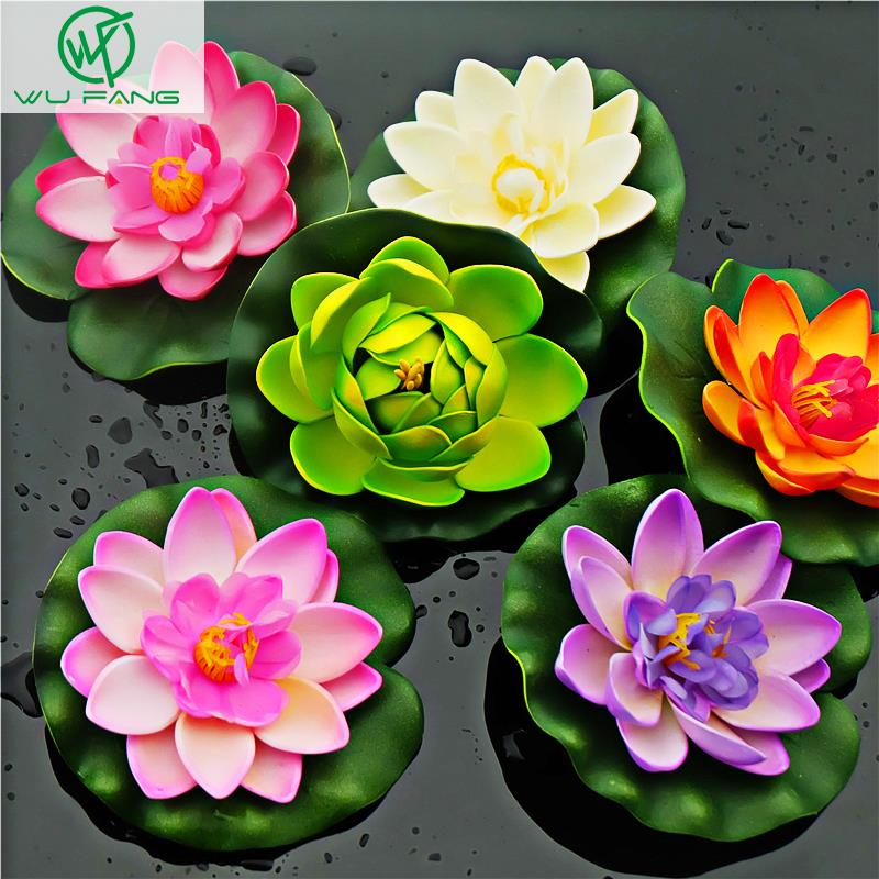 artificial silk plastic flowers fake bouquet cheap for wedding decoration manualidades mariage flores plants Water lily