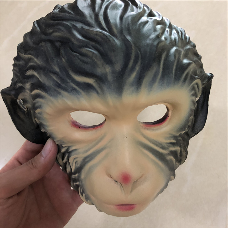 Halloween Mask Cosplay Prop Monkey Beast Face 1:1 PU Weapon Movie Game Anime Cos Kids Role Play Gift Safety PU