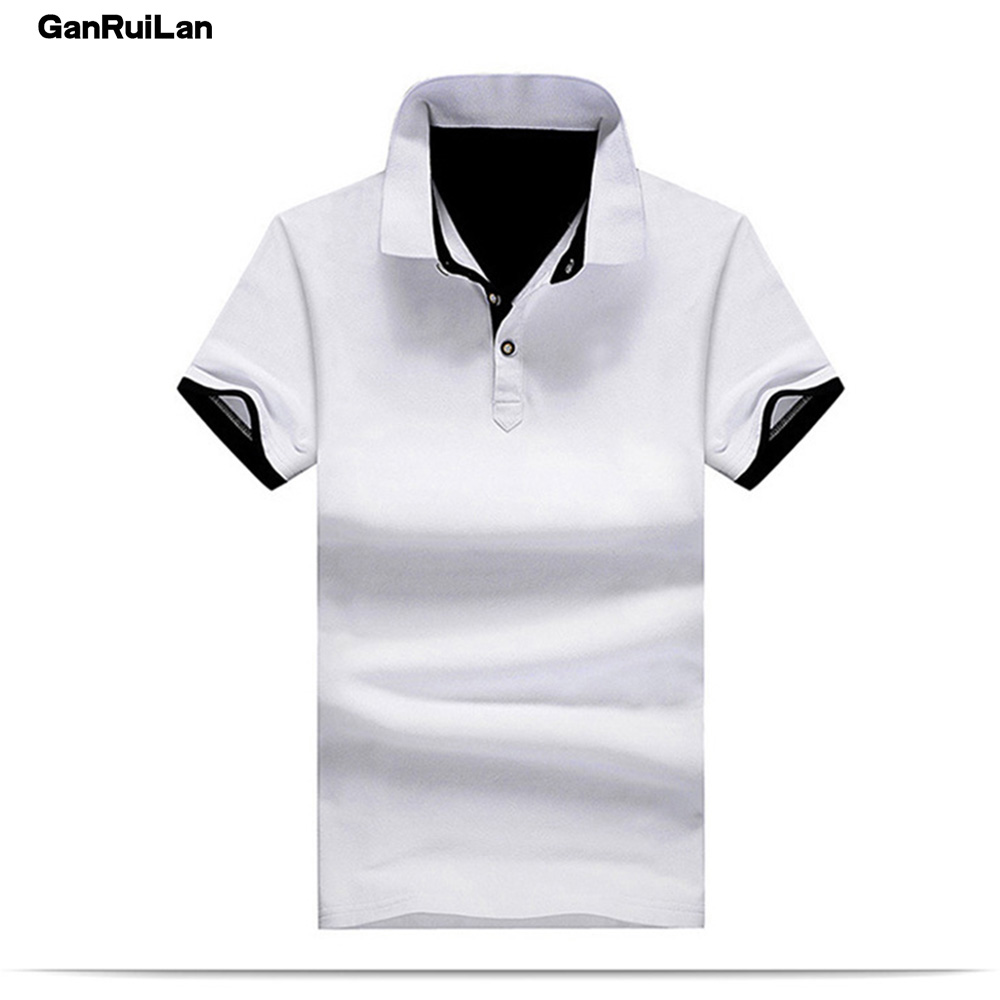 New 2019 Men's clothing New Men   Polo   Shirt Men Business & Casual Solid male   Polo   Shirt Short Sleeve breathable   Polo   Shirt B0255
