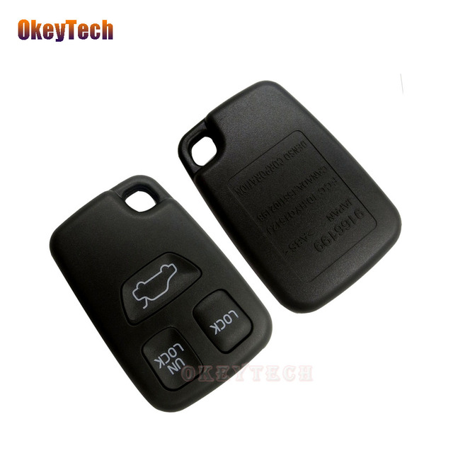 okeytech 3 button remote car key shell keyless entry key caseokeytech 3 button remote car key shell keyless entry key case replacement fob auto key cover for volvo s70 v70 c70 s40 v40 98 05