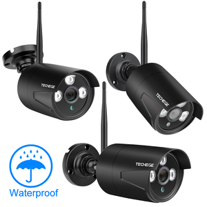 Image 2 - Techege 4CH WIFI CCTV System Wireless NVR Kit 2PCS 1080P HD IP Camera 2MP Outdoor Waterproof Home Security Surveillance System